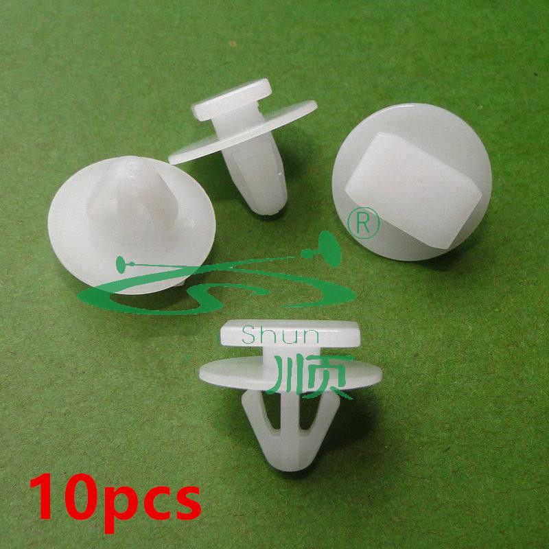 10x Clips For VAUXHALL Exterior Rocker Molding Retainer Trim Plastic 25693852