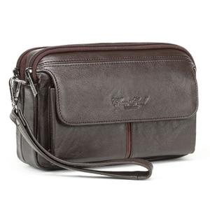 Мужской винтажный кошелек из 100% натуральной кожи, деловой клатч, мобильный телефон чехол, кошелек для сигарет, сумка из воловьей кожи, мужск...