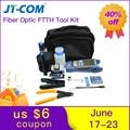 12 pcs Glasvezel FTTH Tool Kit met FC-6S Fiber Cleaver en Optische Power Meter 30 km Visual Fault Locator kabel Draad Stripper