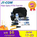 12 stücke Faser Ftth Tool Kit mit FC-6S Fiber Cleaver und Optische Power Meter 30 km Visuellen Fehler Locator kabel Draht Stripper