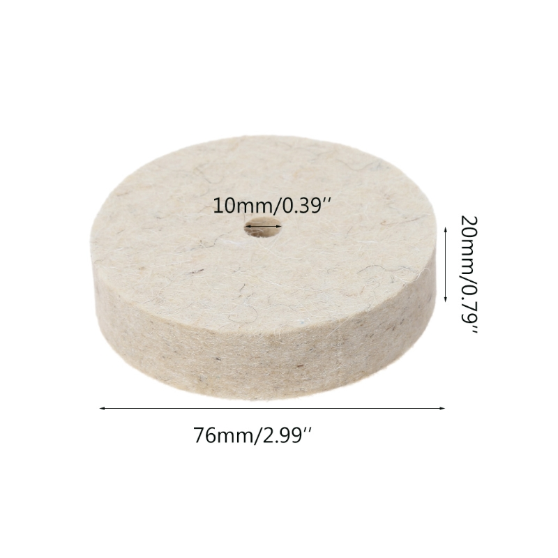 Image 4 - 76x20mm Wool Felt Polishing Buffing Grinding Wheel Polisher Disc Pad Rotary Tool-in Abrasive Tools from Tools