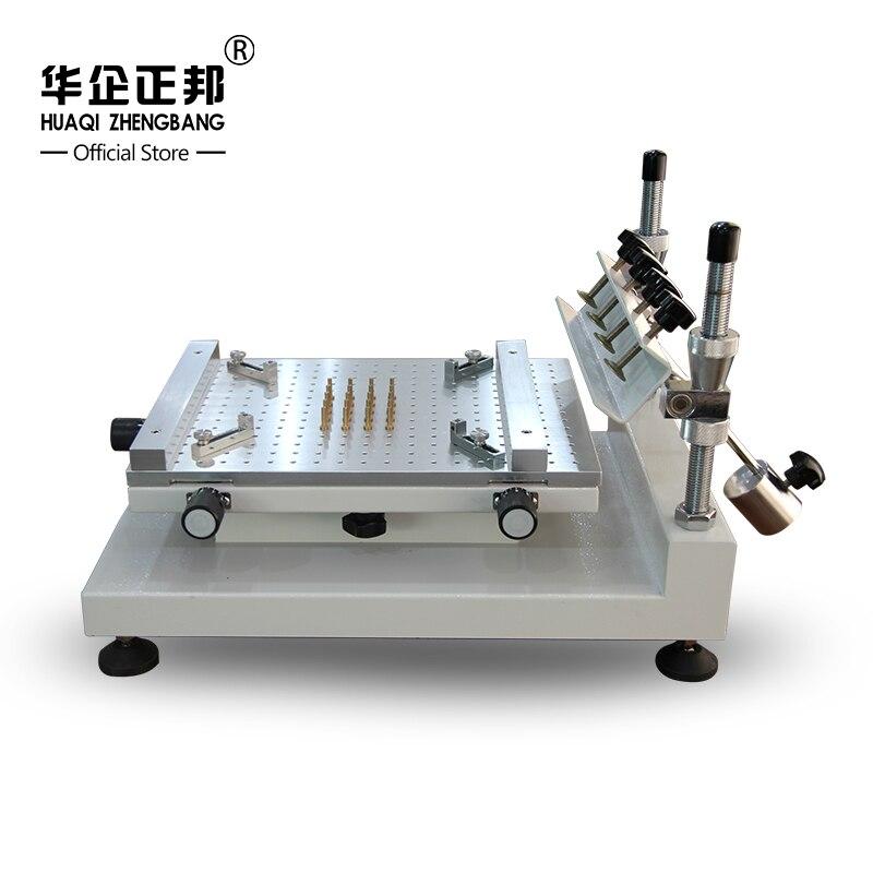 Frete Grátis Impressora De Pasta De Solda Smt Manual/Melhor Precisão Tela Stencil Printer