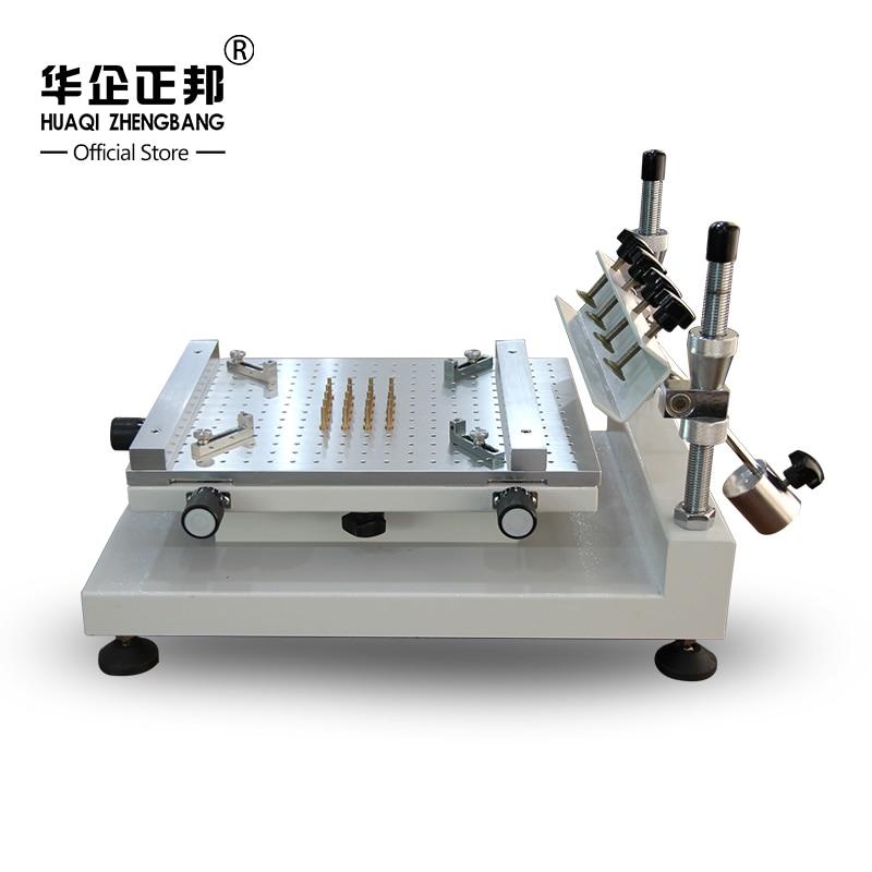 Livraison gratuite Smt manuel soudure pâte imprimante/meilleure précision écran pochoir imprimante