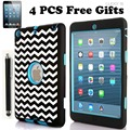 Симпатичные Лазерной Резьбы Dot Зебра Волны Комбо Tablet Чехол для iPad мини 1 2 3 Экран Защитную Пленку Стилус Бесплатно доставка