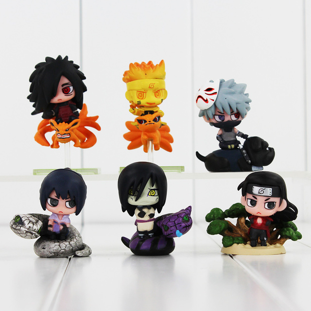 6Pcs Naruto With Friend Action Figure