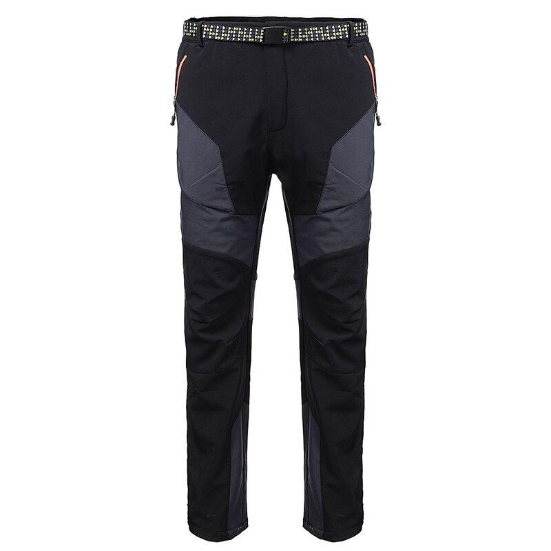 Prix pour M-3XL Hiver Ski Pantalon Hommes Pantalons Chauds Snowboard de Randonnée En Plein Air Étanche Réglable Taille Pantalons Camping Souffle Pantalons De Neige