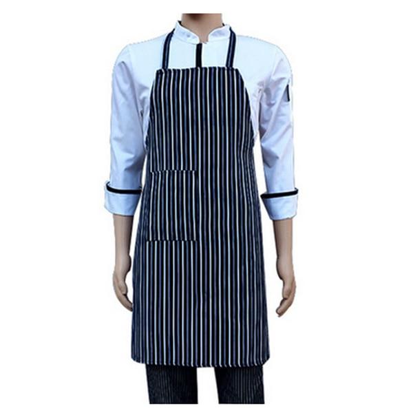 Top Waterproof Bib Apron Nylon Blue And White Stripe Restaurant ...