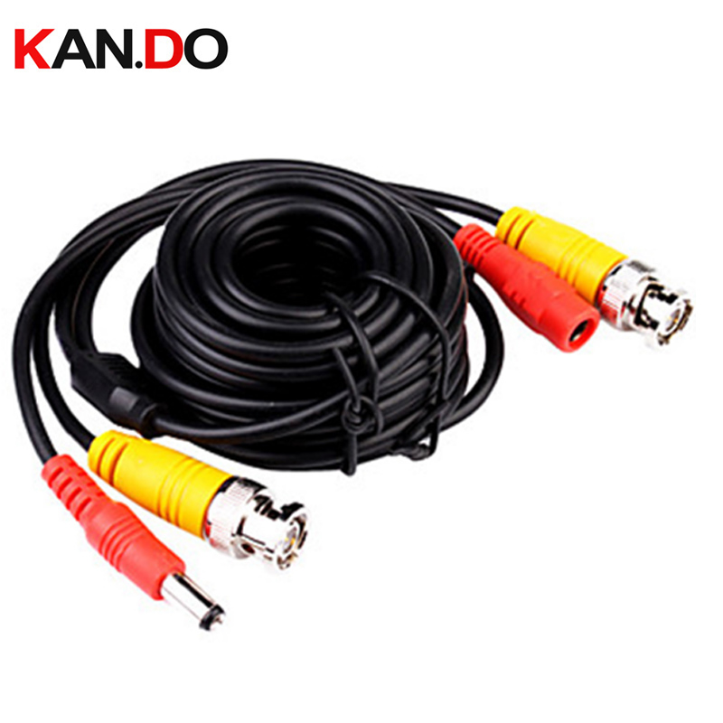 5M,10M,15M,20M,30M,40M,50M BNC Signal Extension Lead Video Power COPPER CABLE BNC Video DC Power Cable Lead For CCTV Camera DVR цена