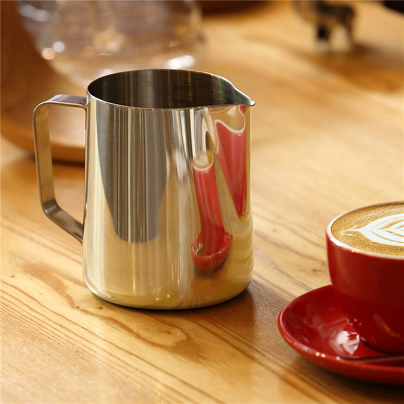 Rokene Stainless Steel Pitcher Milk frothing jug Espresso Coffee Pitcher Barista Craft Coffee Latte Milk Frothing Jug Pitcher