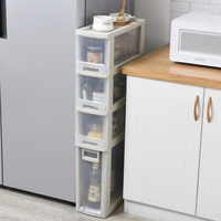 18cm width slot storage drawer cabinet pulley finishing cabinet toy box shoe cabinet plastic drawers cabinet drower organizer