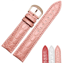 цена на Watchband  20mm Calf Genuine Leather Watch Band Strap Alligator Grain Watch Strap for Tissot Seiko