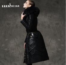 Royalcat down coat 2016 Winter jacket women down jackets women's lengthen thicken slim luxury large fur Hood Outerwear Parka