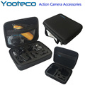 Gopro Caso Yooteco Meio Saco EVA Coleta Box para Go pro hero 4/3 +/3/2/1 sj4000 sjcam sj5000 eken h9 xiaomi yi action camera