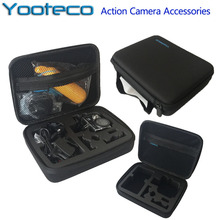 Yooteco Gopro Case Middle Bag EVA Collecting Box for Go pro Hero 5/4/3+/3/2 SJCAM sj4000 SJ5000 Eken H9 Xiaomi Yi Action Camera