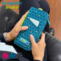 M Square Travel Passport Cover RFID Credit Card Holder RFID Blocking Organizer Wallets Women Men ID Business Card Holder Cover