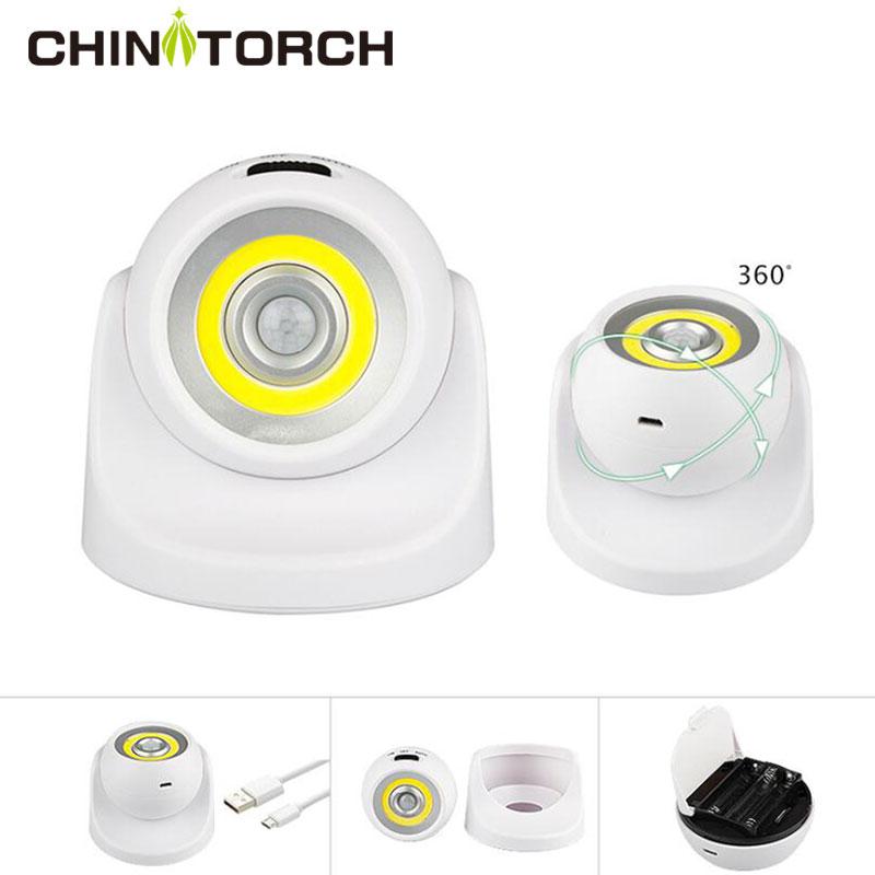 LED Motion Sensor Light 360 Degree Night Porch Light Outdoor Indoor Bright Wireless Ceiling Lamp Rechargeable Wall Nightlight