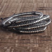 ZMZY Unique 5 Layer Leather Bracelets for Women Handmade Retro Wrap Charm Beads Bracelet Jewelry Vintage Gift