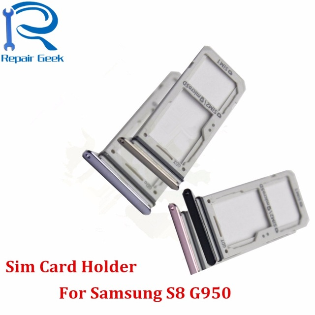 US $2 16 |Single Dual SIM Card Holder Adapter +Micro SD Card Holder Slot  Tray For Samsung Galaxy S8 G950/S8 Plus G9500 G950F G9550-in Phone Bumpers