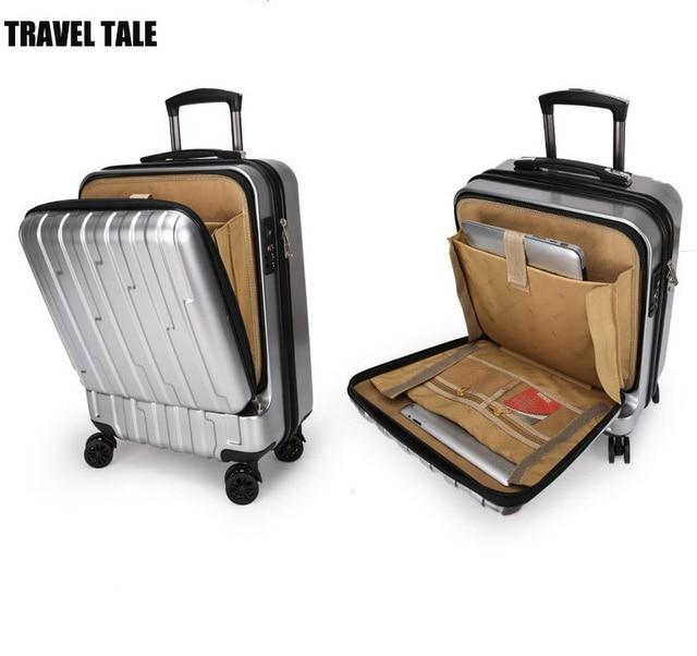 r cit de voyage 20 pouce ouverture cabine bagages roulettes hardside spinner chariot sac. Black Bedroom Furniture Sets. Home Design Ideas