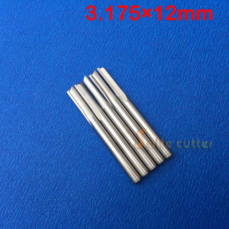 10Pcs 3.175*12mm Double Flute Straight Router Bit Carbide End Mills Tools, Wood MDF Cutter on CNC Milling Slot Cutting  цены