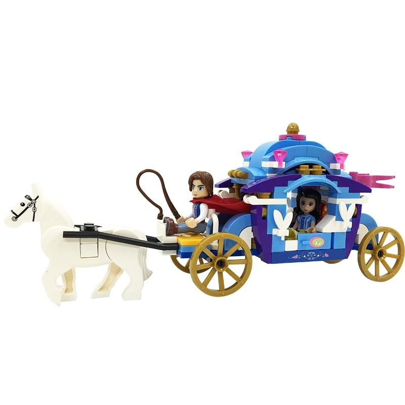 Winner 5001 nouveau Prince & princesse neige blanc chariot Set briques de construction blocs minis éducatifs filles jouets pour enfants bricolage