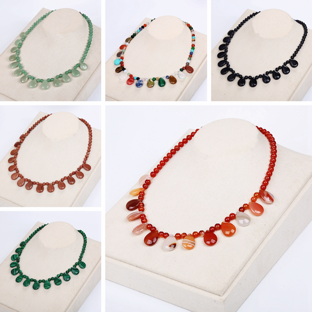 AAA Natural Healing Crystal Women Necklace Power Stone Agate Beads Chain Reiki Charm Female Choker Male Amber Teething Necklace цена и фото