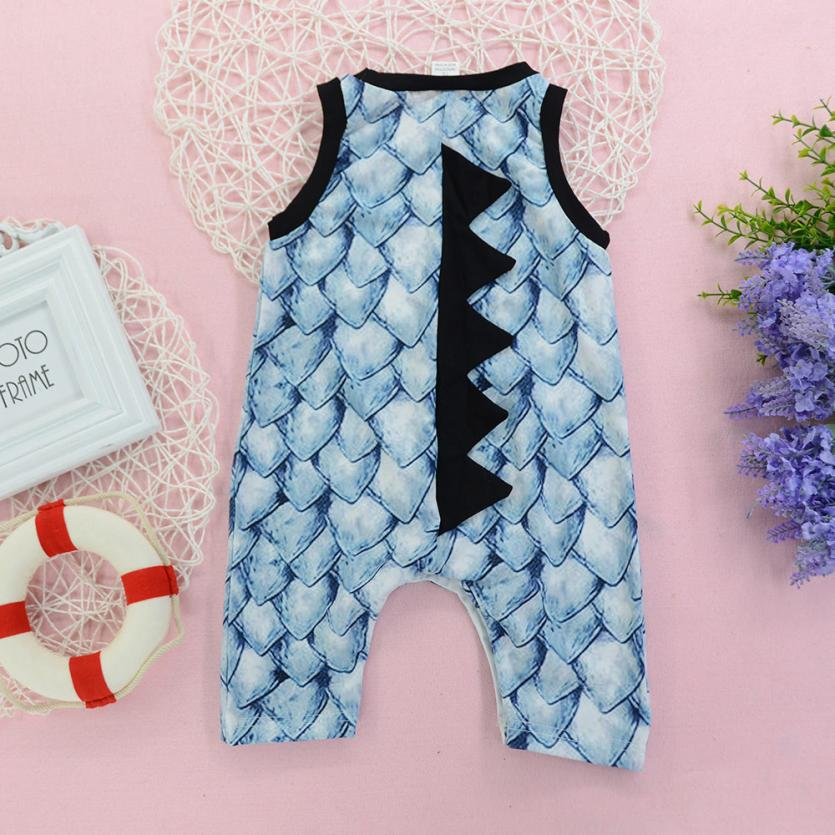 Newborn Kids Baby Girl Boy 3D Dinosaur Scales Romper Jumpsuit Halloween Costume