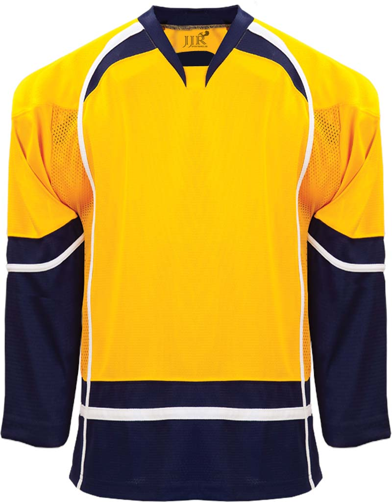Buy Cheap Custom Hockey Design Wholesale ICE Hockey Jerseys Replica Home Mens Vintage Jersey Yellow White XXS-6XL Free Shipping