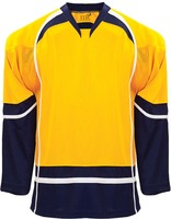 Buy Cheap Custom Hockey Design Wholesale ICE Hockey Jerseys Replica Home Mens Vintage Jersey Yellow White XXS 6XL Free Shipping