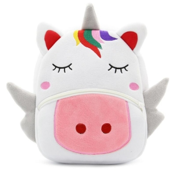 Cute Unicorn Backpacks Preschool Kids Plush Bags