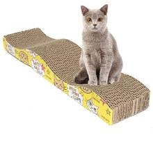 1 Pcs Training Cat Toy S-Shaped Cat Kitten Corrugated Scratch Board Pad Scratcher Bed Mat Claws Care Interactive Toy For Pet