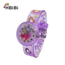 Cartoon Love heart Child Watch Silicone Strap Children Watches Quartz Wristwatches for Baby Girls Boys kids Clock Montre Enfant