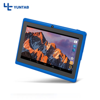 Free Shipping Yuntab 7 A33 Quad Core 1 5GHz Four Colors Q88 7 Inch Tablet PC