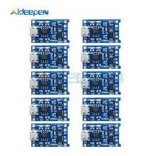 10 шт. Micro USB 5 в 1A 18650 TP4056 модуль зарядного устройства литиевой батареи зарядная плата с защитой двойные функции