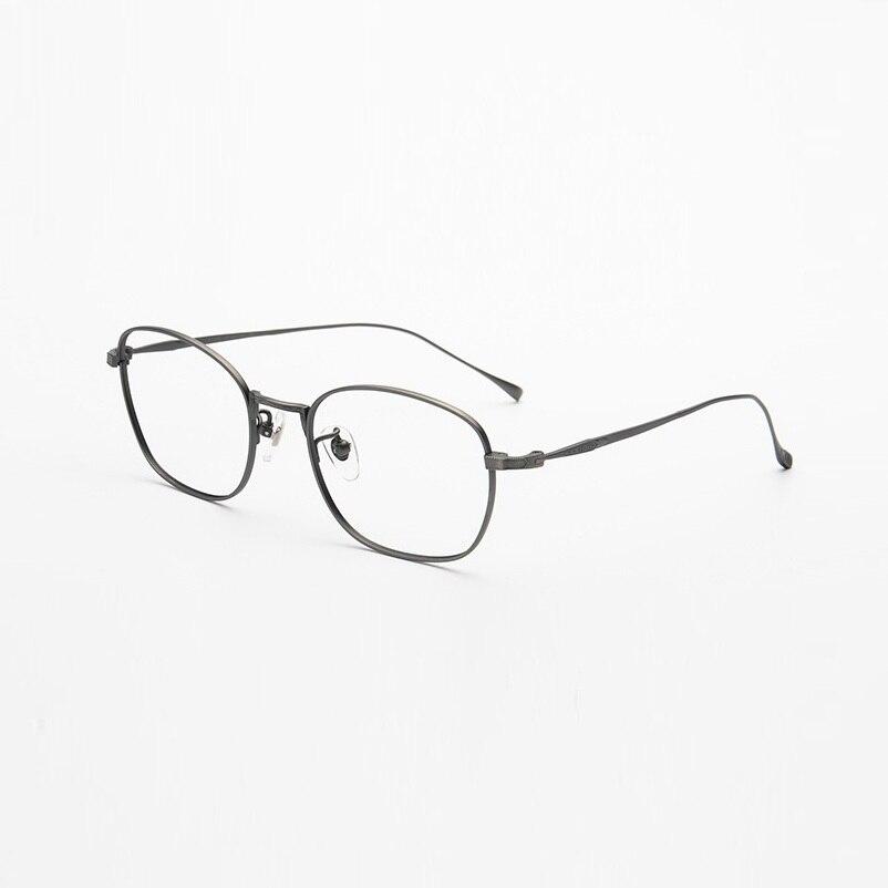 Lunettes pour femme en titane pur lunettes Ultra légères jante complète mince sculpté stéréotemple hommes lunettes montures lunettes de Prescription nouveau