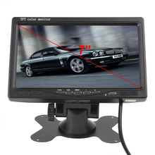 "7 Inch Color TFT LCD Headrest Car Rear View Monitor 7"" Parking Rearview Monitor 2 Video Input For Reverse Backup Camera DVD"