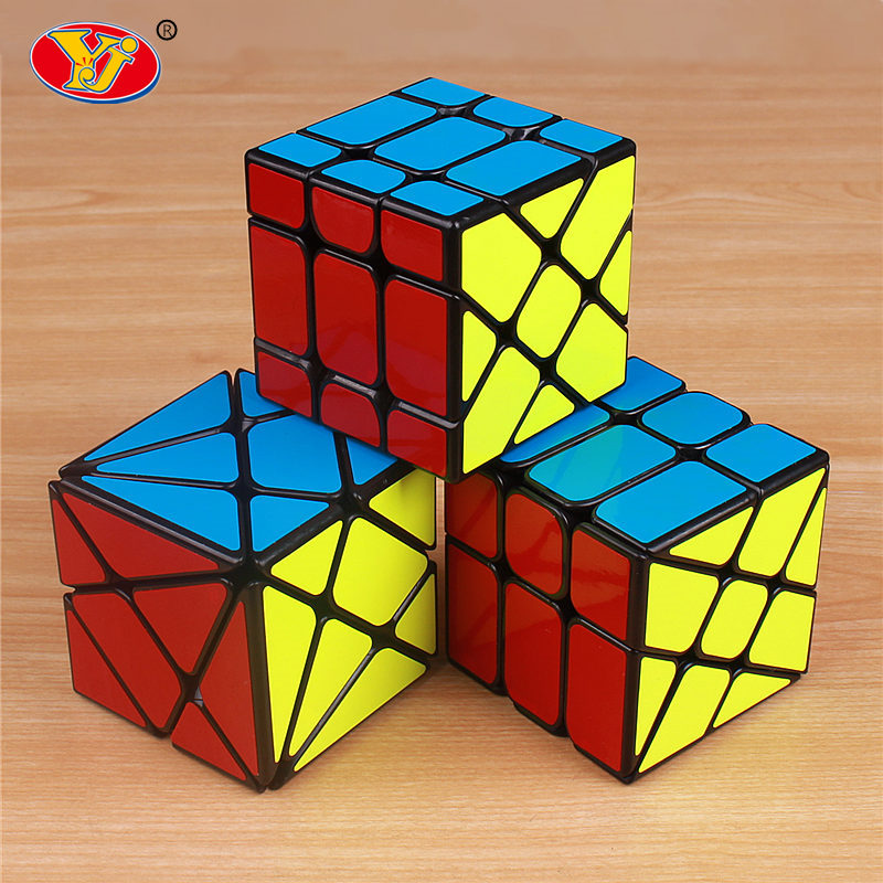 YJ Axis yongjun wheel magic speed cube professional sticker Fisher skew cubo magico educational font b
