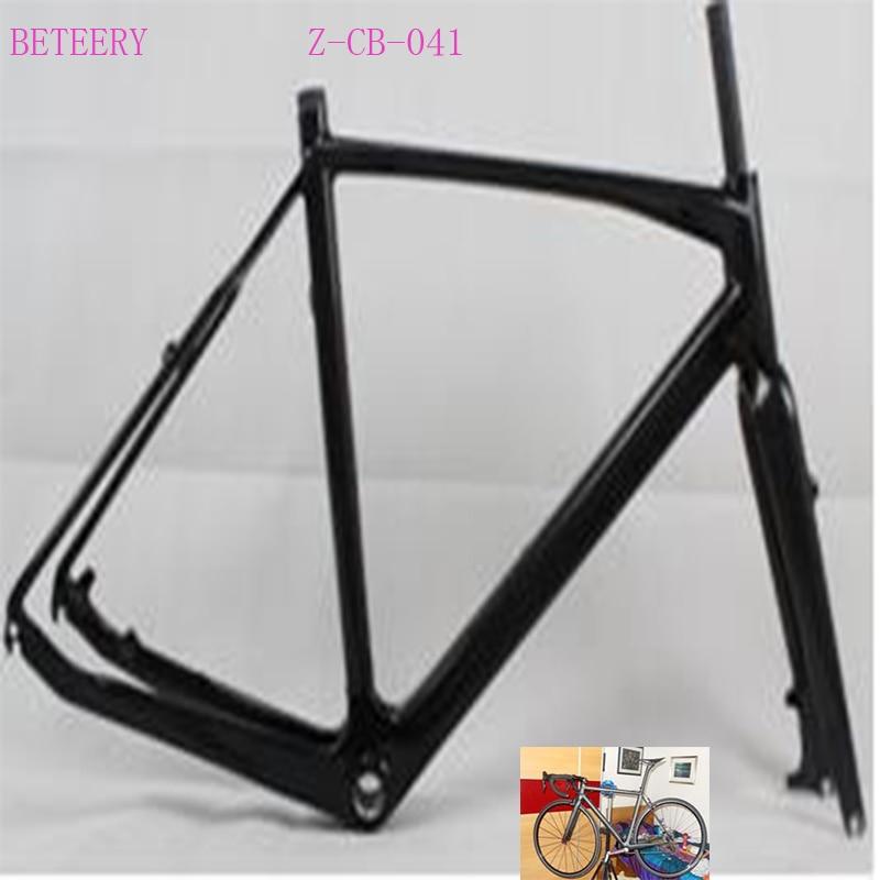 Beteery Store Carbon Road  Bike 700*38c Carbon Road CC Frame Z-CB-041 Carbon Frame Set Includ Carbon Fork  For Sale