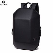 OZUKO Backpack Men Hard Shell Backpack Waterproof Anti Theft Travel Bag Black Creative Alien Casual Laptop Teenage School Bags