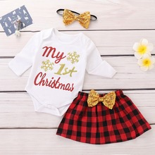 Emotion Moms Baby Romper Girl Rompers Christmas Clothes Newborn Gift Cotton 1-2YEARS