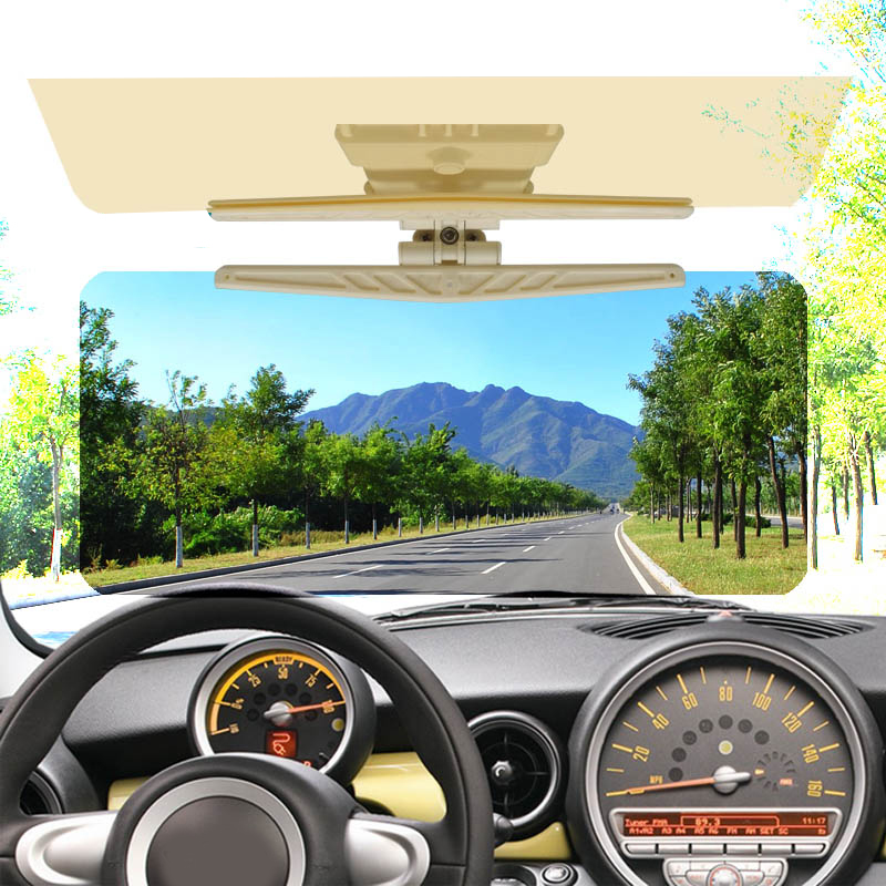 VEHEMO Car Sun Visor HD Car Dazzling Goggle Day Night Vision Driving Mirror UV Fold Flip Down Clear View Visor Free Shipping
