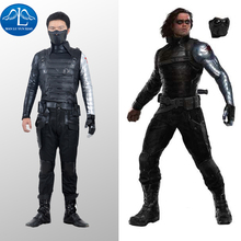 MANLUYUNXIAO Bucky Barnes Costume Captain America Civil War Winter Soldier Costume Cosplay Superhero Suit Adult Men Halloween