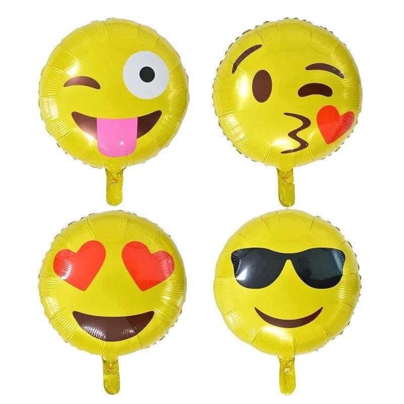 c9de970b02 ⓪Fête d'anniversaire Décoré 18-pouces Emoji Sourire Visage Feuille ...