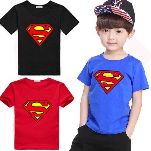 2019 Thương Hiệu Cậu Bé Siêu Nhân T-Shirt Ngắn Tay Áo Trẻ Em Tees Trang Phục Hàng Đầu Màu Xanh & Red New Cotton Trẻ Em Trẻ Sơ Sinh Quần Áo bán buôn