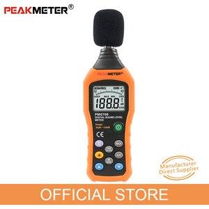 Официальный PEAKMETER PM6708 цифровой измеритель уровня шума в звуке с ЖК-дисплеем, измеритель уровня шума в дБ, тестер регистратора 30 дБ до 130 дБ