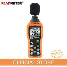 공식 PEAKMETER PM6708 LCD 디지털 오디오 데시벨 소음 레벨 미터 dB 미터 측정 로거 테스터 30 dB ~ 130 dB