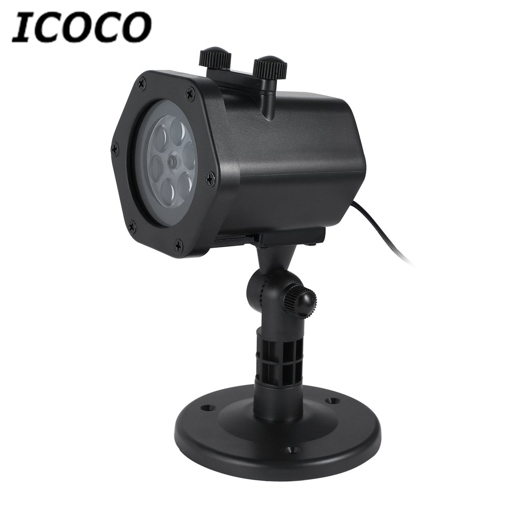 ICOCO Waterproof LED Landscape Projector Light Lawn Lamp with 12 Slides for Easter Christmas Festival Outdoor Garden Home Decor