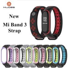 Mi Группа 3 ремешок спортивные силиконовые часы наручные браслет mi band3 ремешок аксессуары mi band3 Браслет Смарт для Xiaomi mi группа 3 ремень