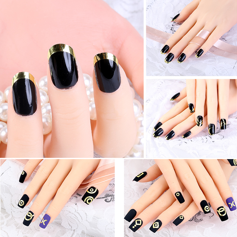 3pc Nails Sticker Tips Guide French Manicure Nail Art Decals Form ...