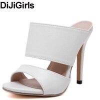 Summer Beach Women Slippers Flip Flops Woman Shoes Faux Leather Suede Mules Pumps High Heel Sandals